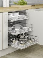 INDIVIDUAL PULL-OUT ORGANISER BASKET (Innostor Plus Range) in 8 cabinet widths (ECF IP2IP***)